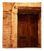 Old Wooden Doors Fleece Blanket