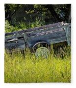 Old Wooden Wagon Fleece Blanket