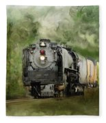 Old World Steam Engine Fleece Blanket