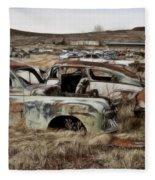 Old Wrecks Fleece Blanket