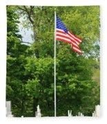 Old Yard Cemetery In Stowe Vermont Fleece Blanket