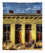 Old Yellow House In Buena Vista Fleece Blanket