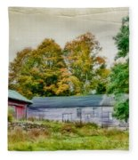Olde Homestead On Rt 105 Fleece Blanket
