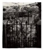 Olde Victorian Gate Leading To A Secret Garden - Peak District - England Fleece Blanket