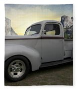 Older Classic Truck Fleece Blanket