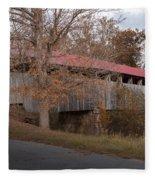 Oldtown Covered Bridge Fleece Blanket