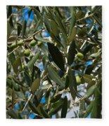 Olive Branch Fleece Blanket