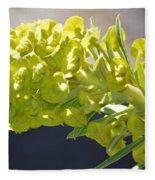 Olive Fluorescence Fleece Blanket