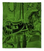 Olive Green Horse Fleece Blanket