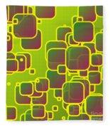 Olive Green Squares Fleece Blanket