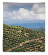 Olive Trees In A Field, Ubeda, Jaen Fleece Blanket