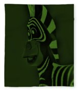 Olive Zebra Fleece Blanket
