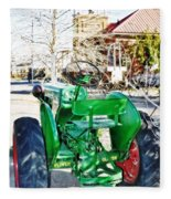 Oliver 60 Tractor In Dell Fleece Blanket