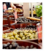 Olives In Barrels Fleece Blanket