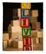 Olivia - Alphabet Blocks Fleece Blanket