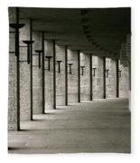 Olympiastadion Berlin Corridor Fleece Blanket