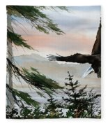 Olympic Coast Eagle Fleece Blanket