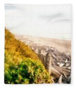 Olympic Peninsula Driftwood Fleece Blanket