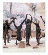 Olympic Wannabes Sculpture By Glenna Goodacre Near Infrared Fleece Blanket
