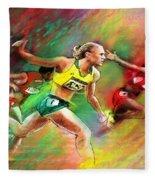 Olympics 100 Metres Hurdles Sally Pearson Fleece Blanket