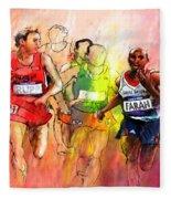 Olympics 10000m Run 01 Fleece Blanket