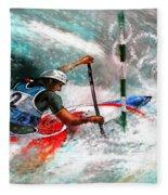 Olympics Canoe Slalom 02 Fleece Blanket