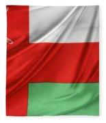 Oman Flag Fleece Blanket