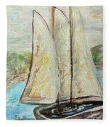 On A Cloudy Day - Impressionist Art Fleece Blanket