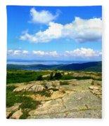 On A Mountain In Maine Fleece Blanket