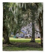 On Destrehan Plantation Fleece Blanket