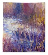 On Frozen Pond Fleece Blanket