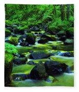 On Golden Waters  Fleece Blanket