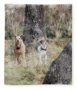 On Guard - Featured In Comfortable Art Group Fleece Blanket