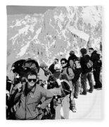 On Mount Blanc Fleece Blanket