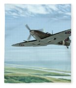 Spitfire On Patrol Fleece Blanket
