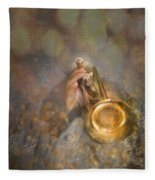 On Stage The Trumpeter Fleece Blanket