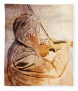 On Stage The Violinist Fleece Blanket