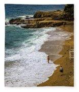On The Beach - Dubrovnic Fleece Blanket