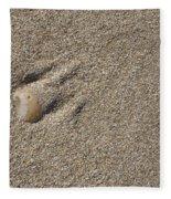 Shell On The Beach Fleece Blanket