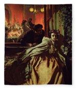 On The Brink, 1865 Fleece Blanket