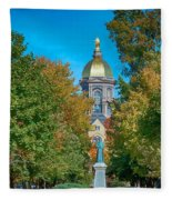 On The Campus Of The University Of Notre Dame Fleece Blanket