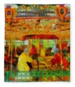 On The Carousel Fleece Blanket