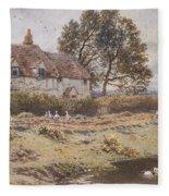 On The Common Hambledon Surrey Fleece Blanket