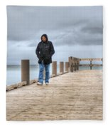 On The Dock Fleece Blanket