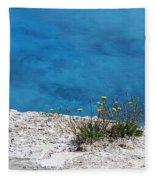On The Edge Of Blue Fleece Blanket