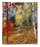 On The Edge Of The Forest Fleece Blanket