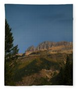 On The Going To The Sun Road  Fleece Blanket