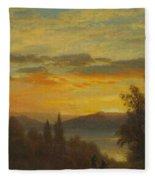 On The Hudson River Near Irvington Fleece Blanket