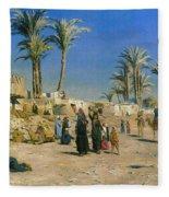 On The Outskirts Of Cairo Fleece Blanket