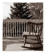 On The Porch Fleece Blanket